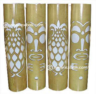 Bamboo decor products accessories export bali carved bamboo lampshades mozeypictures Images
