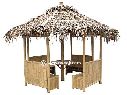 Bamboo Gazebo with Seating