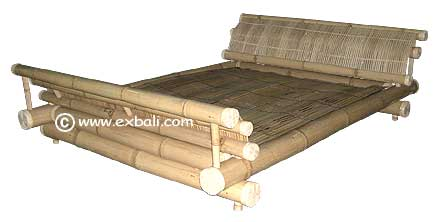 Bamboo Sleigh Bed