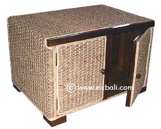 Water Hyacinth TV Cabinet
