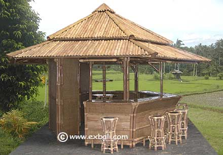 Knock Down Bamboo Gazebo