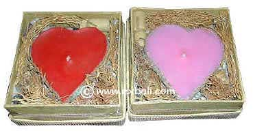 Small Heart Candles