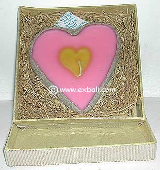 Large Heart Candle