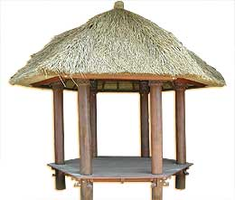 Hexagonal Balinese gazebo