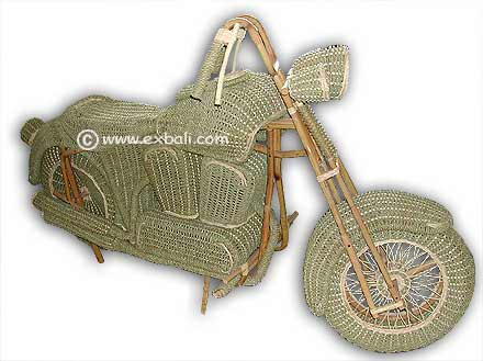 Harley Davidson Motorcycles made from Cane