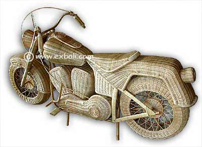 Motorcycles made from  Balinese Rattan