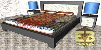 Modular bed example