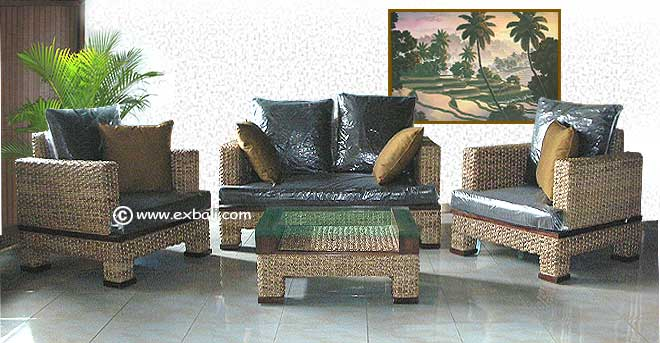 new design water hyacinth lounge suite