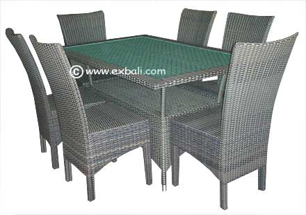 Synthetic rattan furniture from Bali