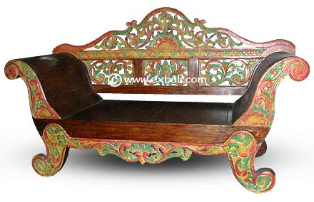 Painted Carved Sofa