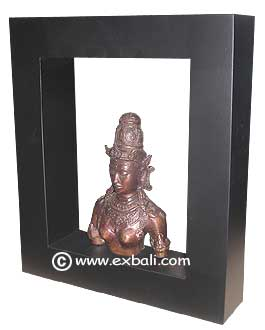 Buddha bust in Shadow box