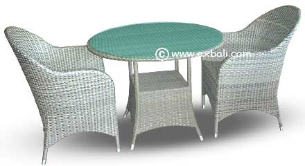Elegance Rattan Woven Banana Abaca Dining Set Chair And Mahogany