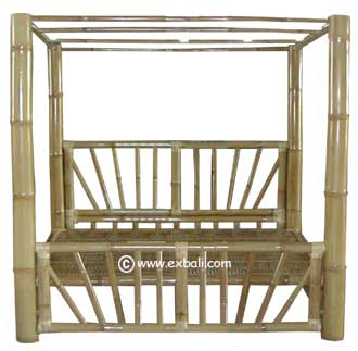 Four Poster bamboo  bed