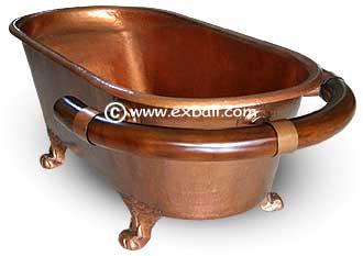 copper bathtub. Copper Bath Tub With Teak Towel Rail COPPER BATH TUBS  DECOR EXPORT BALI