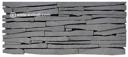 Stacked stone wall cladding