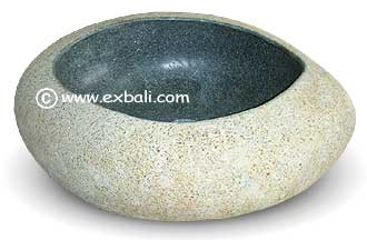 Basin made from river rock